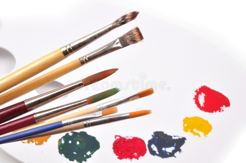 Download Paint palette stock photo. Image of color, brushes, painters - 9770948