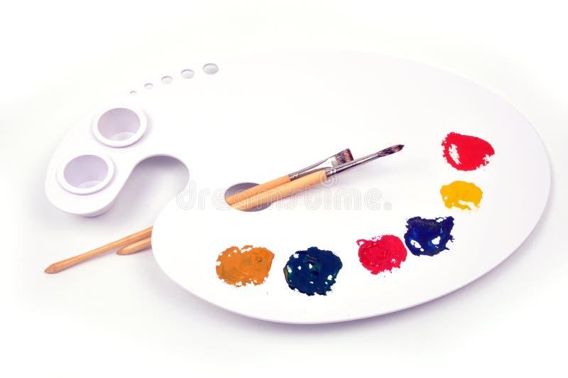 Download Paint palette stock image. Image of paintbrush, palette - 9770949
