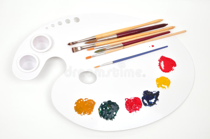 Download Paint palette stock photo. Image of artistic, graphics - 9770950