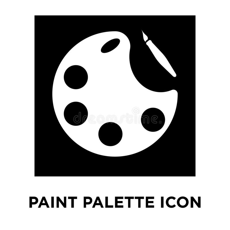 Paint palette icon vector isolated on white background, logo con royalty free illustration