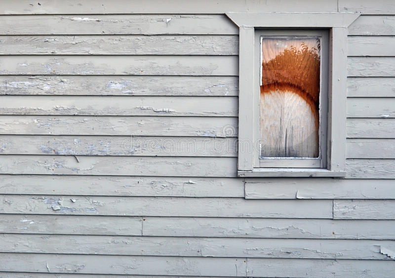 Paint pealing old building royalty free stock photography