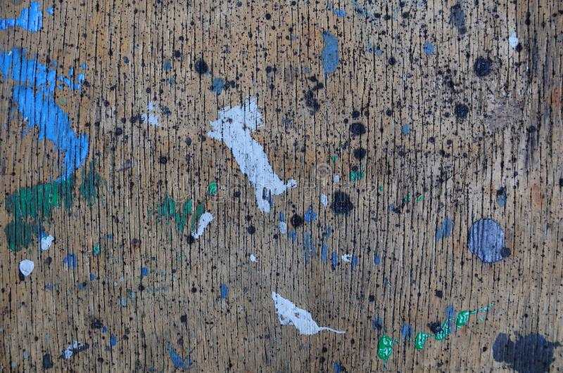 Paint on plywood surface. Paint on old plywood surface , dirty texture stock photo