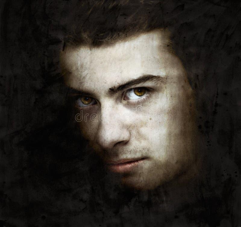 Paint portret stock image