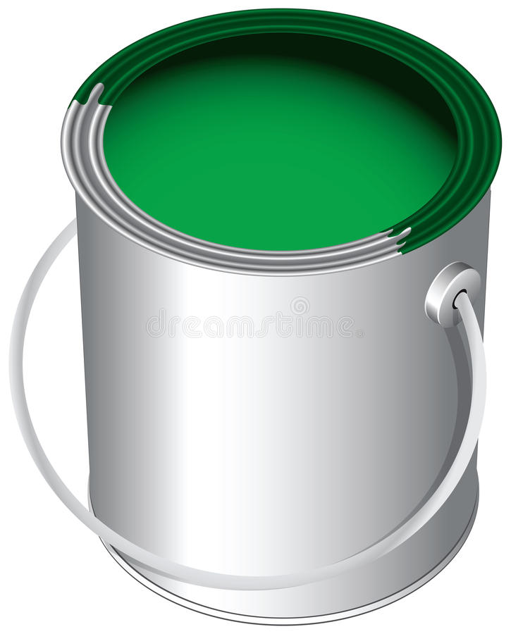 Download Paint in the pot stock vector. Image of silver, bank - 24975814