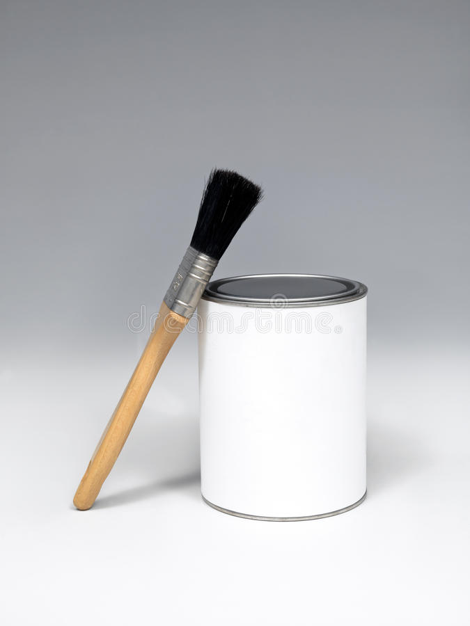 Download Paint pot and paintbrushes stock photo. Image of wooden - 15814090