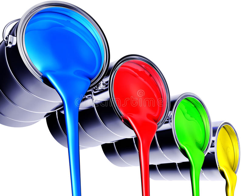 Download Paint Pots Royalty Free Stock Images - Image: 32158459