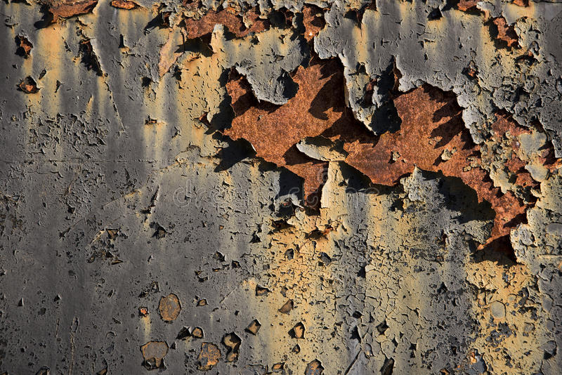 Paint rash texture. Paint rash texture and rusted metal surface royalty free stock image
