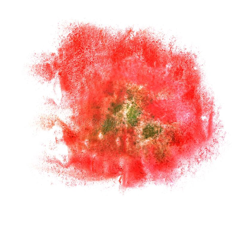 Paint red, pink, green splash ink blot and white abstract art b. Rushes isolated stock image