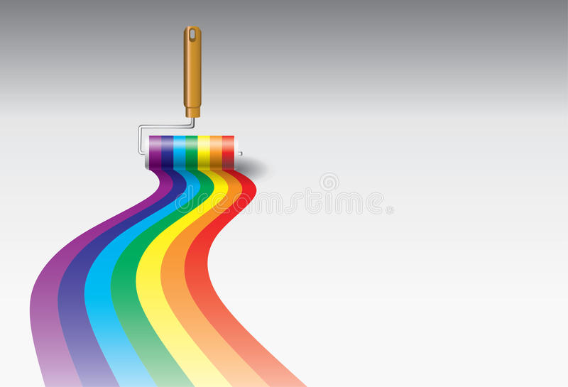 Paint Roller vector illustration