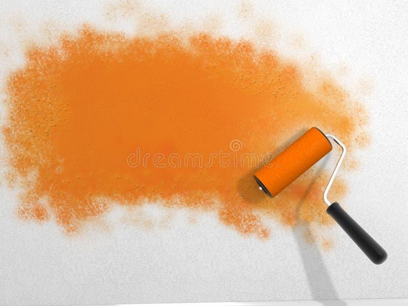 Download Paint roller stock illustration. Illustration of object - 23604067