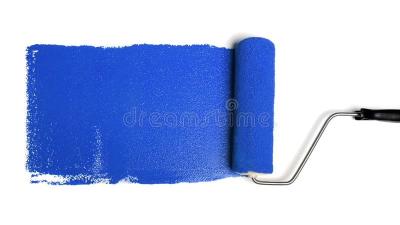 Download Paint Roller With Blue Paint Royalty Free Stock Photo - Image: 9837265