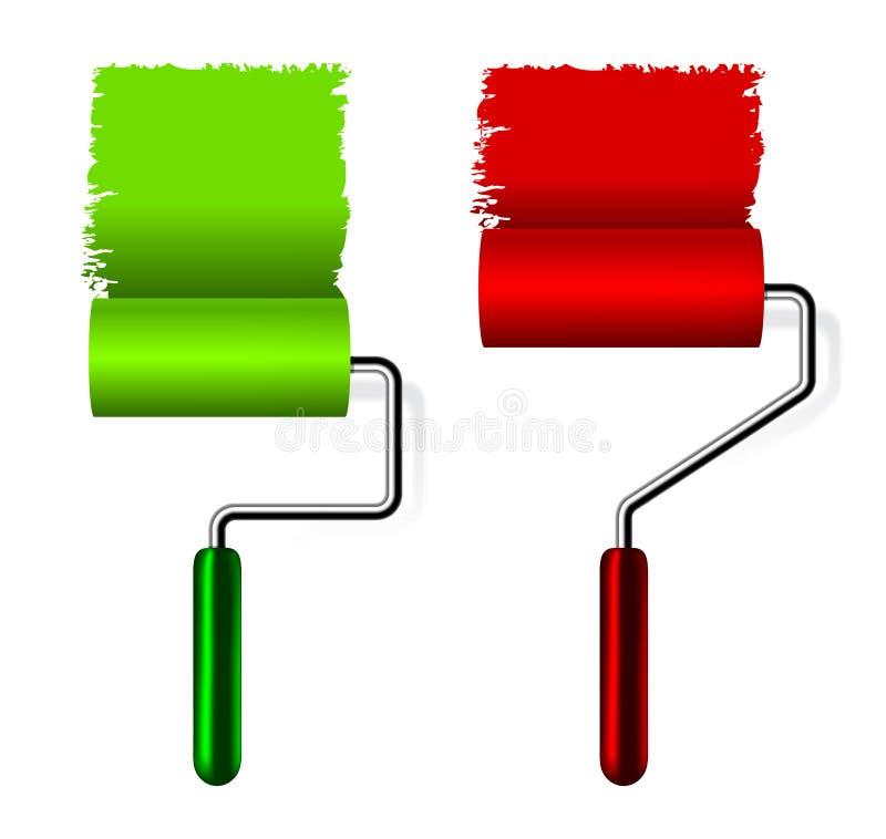 Download Paint roller brush stock vector. Illustration of refreshment - 18329777