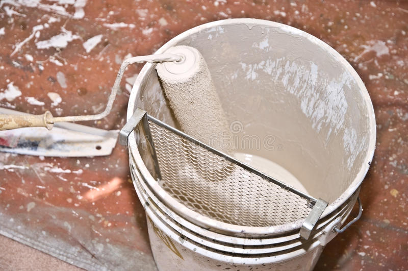 Paint Roller/Bucket/Home Improvement stock photo