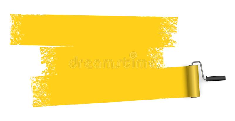 paint roller with marking vector illustration
