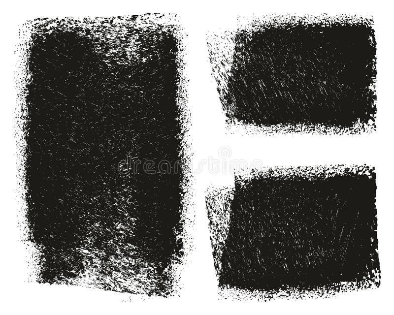 Paint Roller Rough Grunge Backgrounds High Detail Abstract Vector Lines & Background Set 130. This image is a vector illustration and can be scaled to any size royalty free illustration