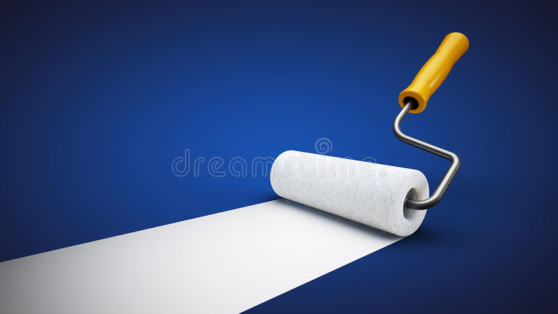 Paint roller stock photo