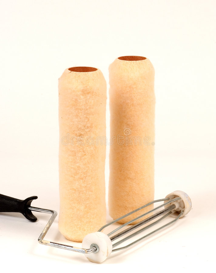 Paint rollers royalty free stock images