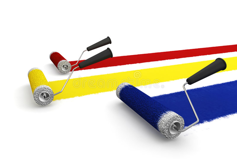 Download Paint rollers stock illustration. Image of colors, render - 4730691