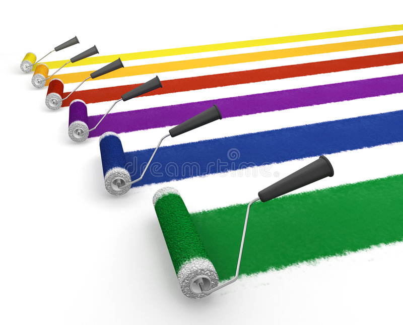 Download Paint rollers stock illustration. Illustration of illustration - 4798821