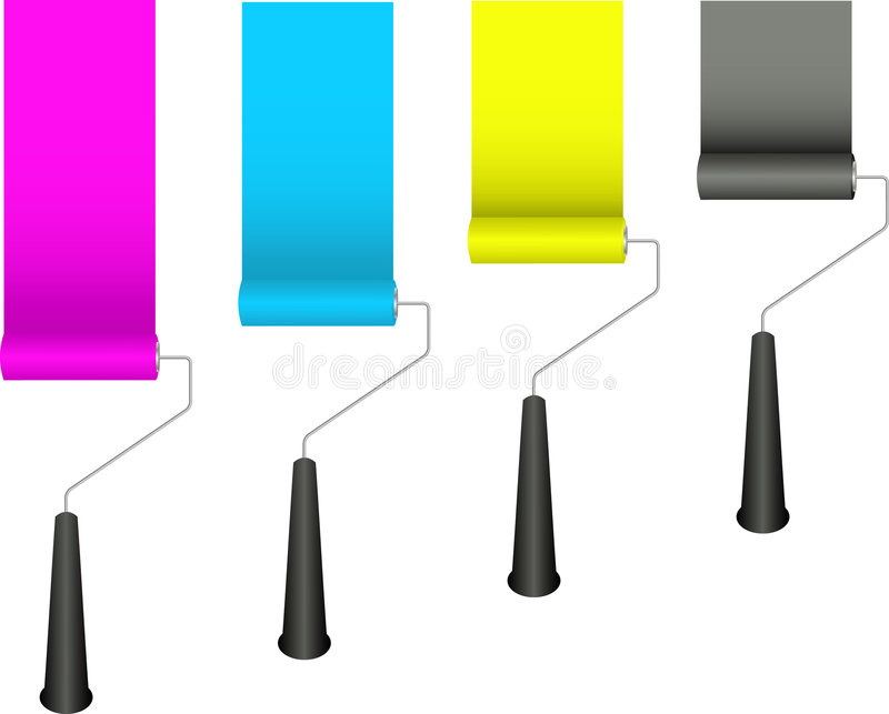 Paint rollers vector illustration