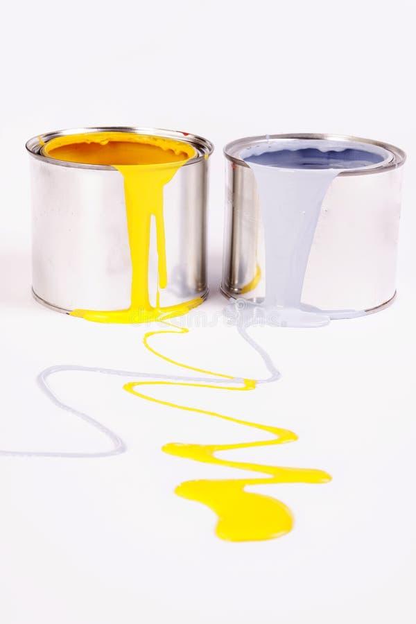 Paint splash!. Poured paint on white background! Paint splash royalty free stock images