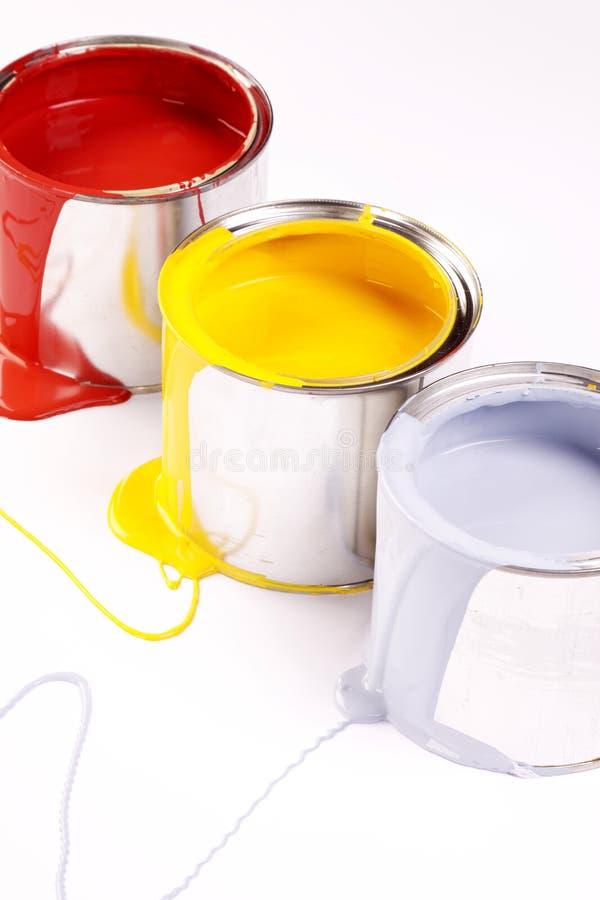 Paint splash!. Poured paint on white background! Paint splash stock image