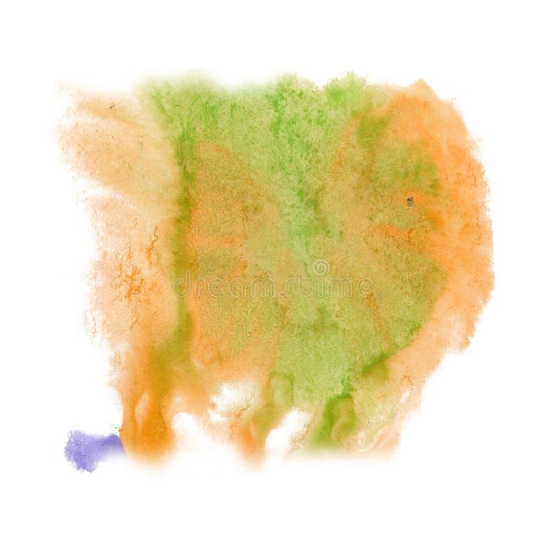 Paint splash color ink watercolor isolate lime orange stroke splatter watercolour aquarel brush stock photography