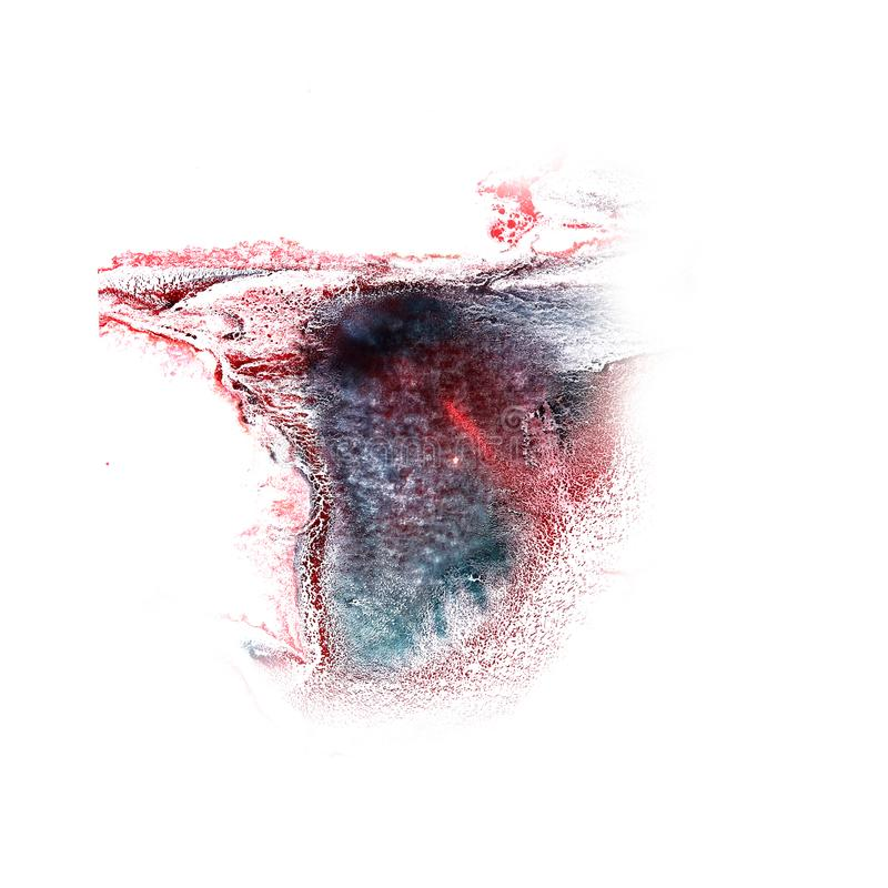 Paint splash ink red, black blot and white abstract art brushe. S isolated royalty free stock photo