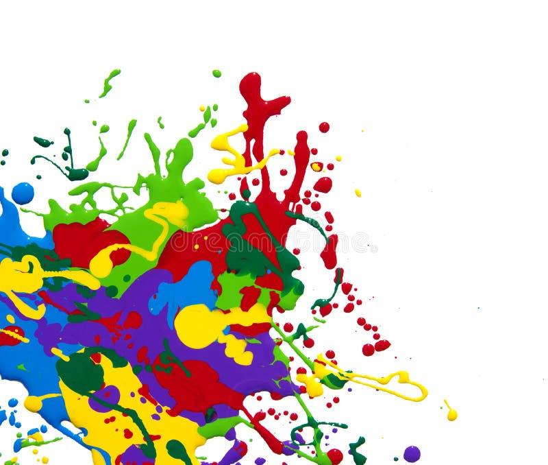 Paint. Splash isolated on white royalty free stock photo
