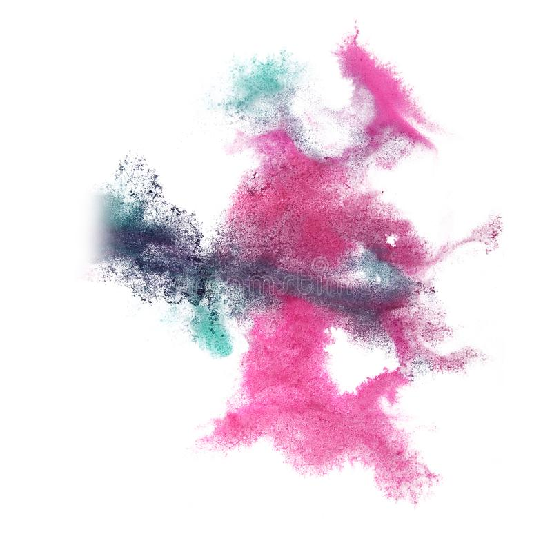 Paint splash lilac, pink ink blot and white abstract art brushe. S isolated stock photography