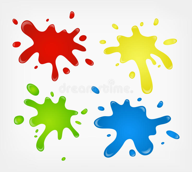 Paint splashes vector illustration