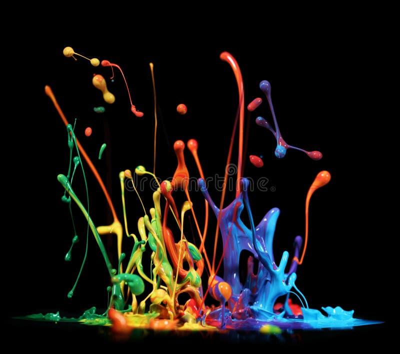 Paint splashing royalty free stock photography