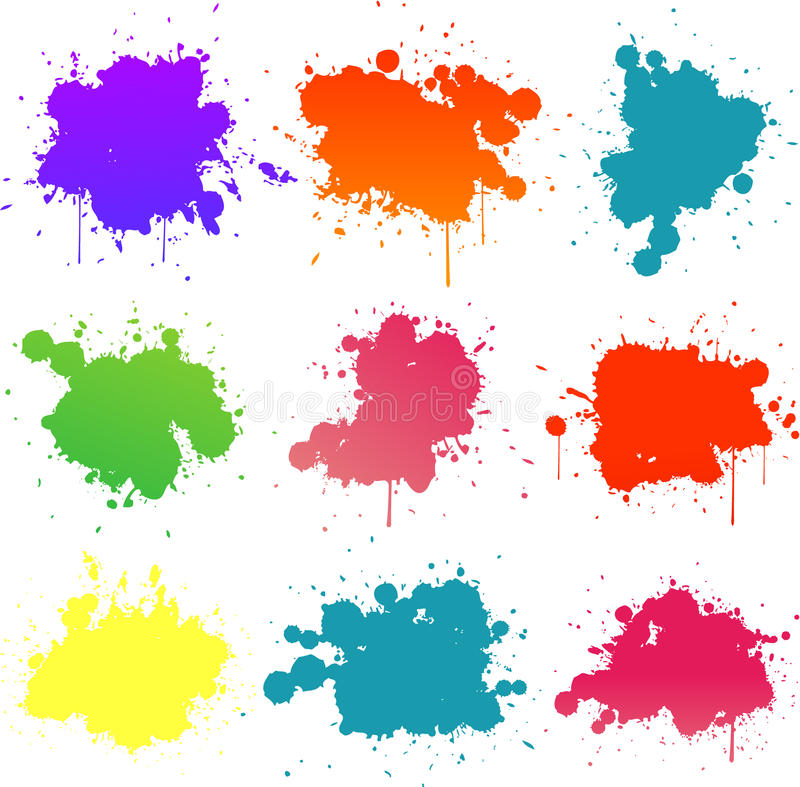 Download Paint splat stock vector. Image of drop, silhouette, colorful - 14590705