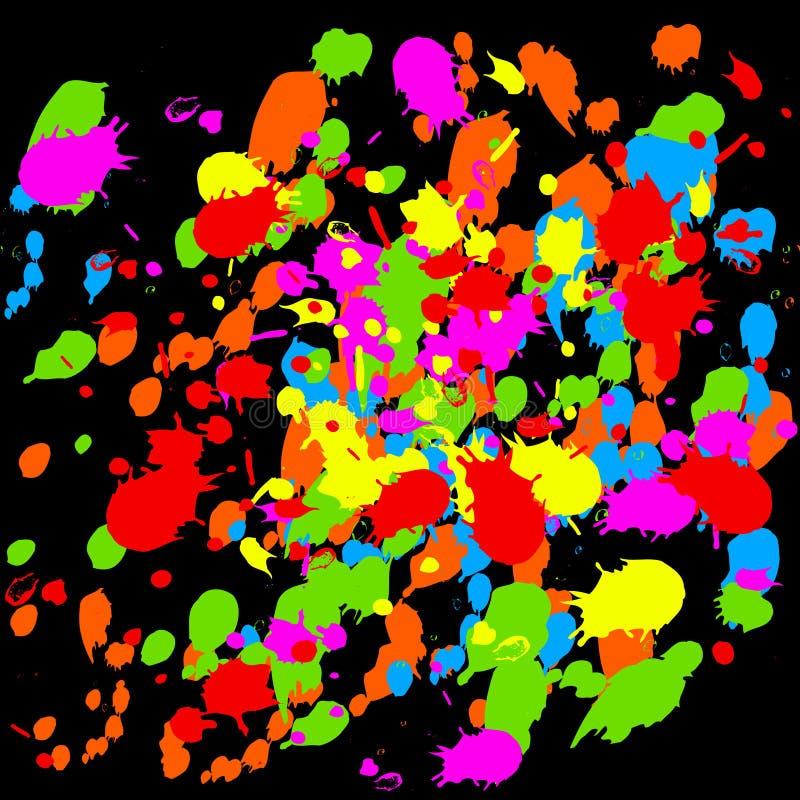 Download Paint Splats stock vector. Illustration of shape, inkblot - 10031557