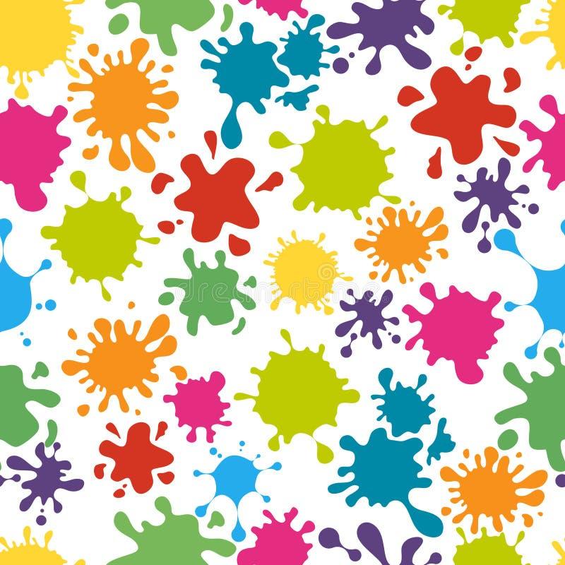 Paint splats pattern vector stock illustration
