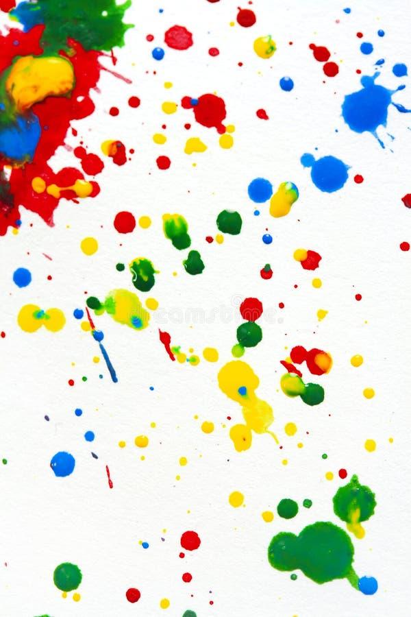 Paint splatter stock image