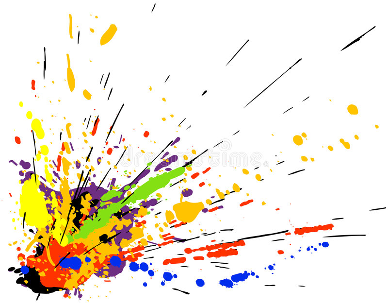Download Paint splatter stock vector. Illustration of graphic, paint - 2545163