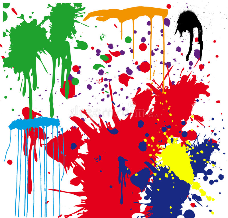 Paint Splatter stock illustration
