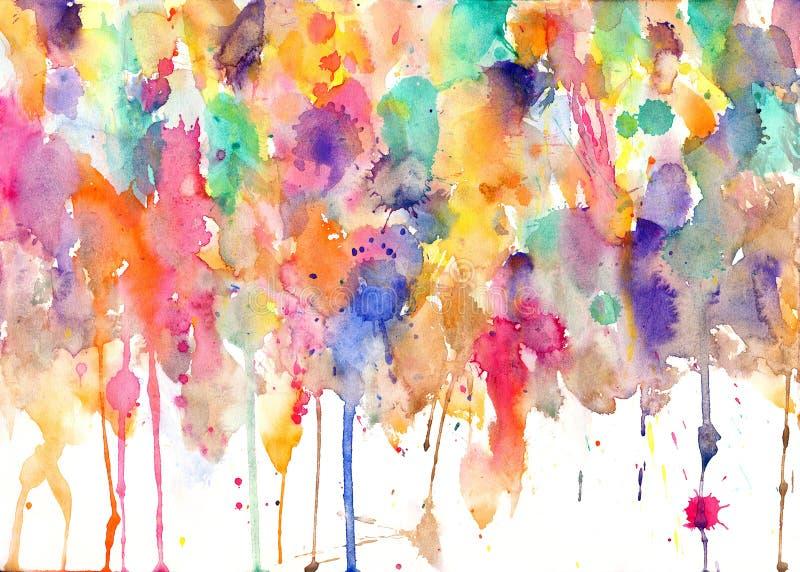 Paint splatters on paper. Blobs stock illustration