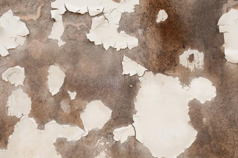 Old surface with flaking paint stock photography