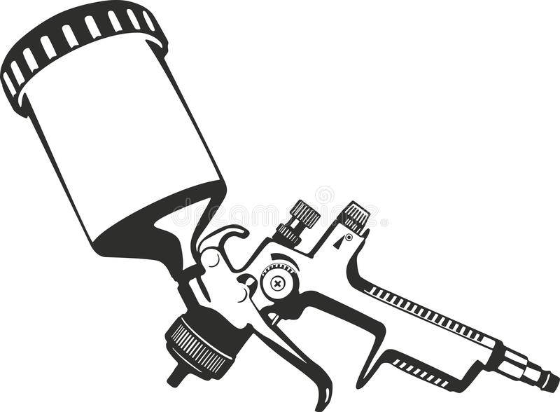 Paint spray gun. Vector illustration suitable for cutter plotter royalty free illustration