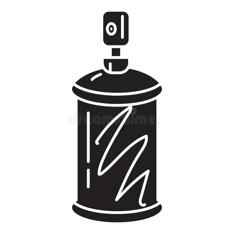 Paint spray icon, simple style vector illustration