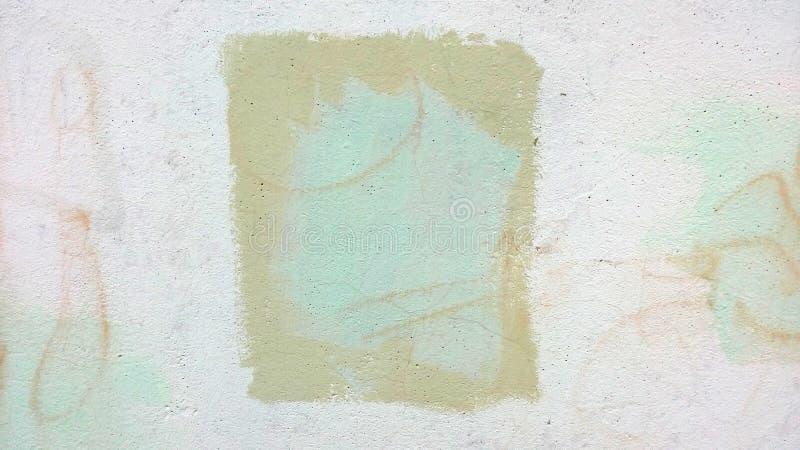 Paint stain on whitewash wall. Texture stock illustration