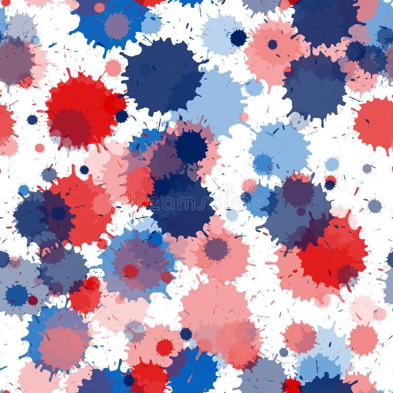 Free Paint Stains Seamless Splatter, Spray Blots, Spots Royalty Free Stock Photo - 217781425
