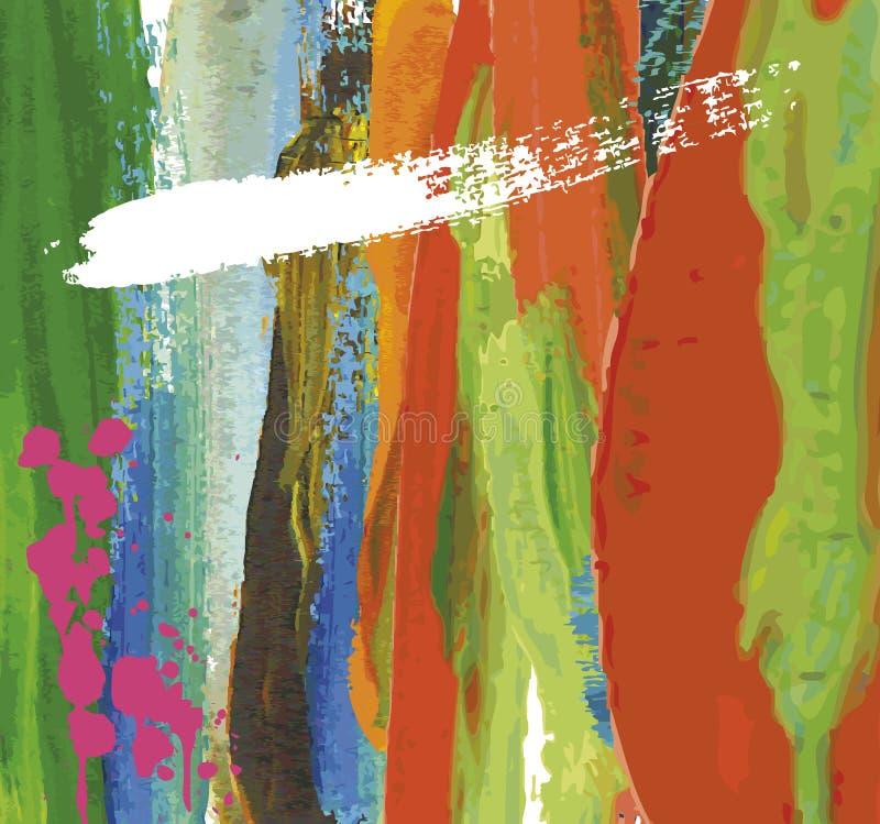Paint stroke background, royalty free illustration