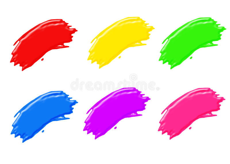 Download Paint strokes stock illustration. Image of paints, vibrant - 1703970