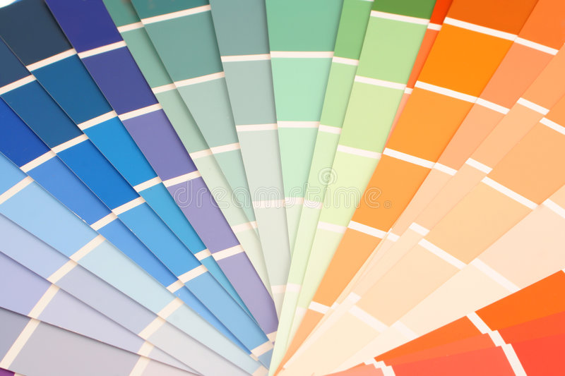 Paint swatches royalty free stock images