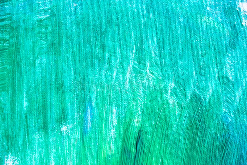 Green paint texture, abstract background, brush strokes on canvas. Paint texture background, hand drawn green painting, brush strokes on canvas , green colored royalty free stock photo