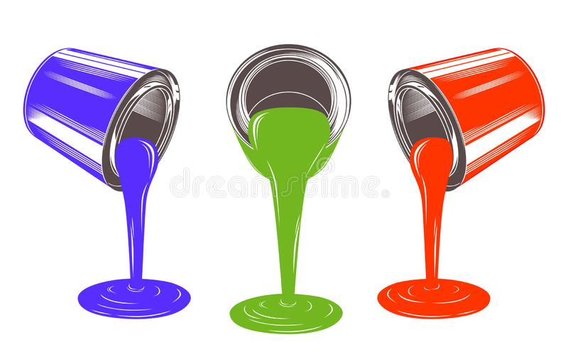 Paint tins royalty free stock photos