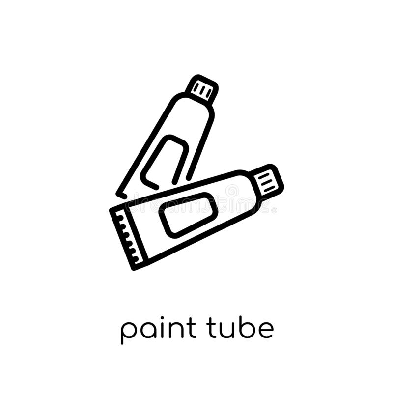 Paint tube icon from collection. stock illustration